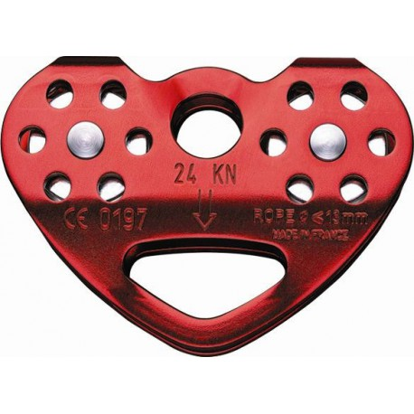 Poulie Tandem rouge corde PETZL