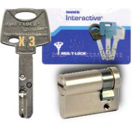1/2 cylindre Mul-T-Lock Interactif 40 mm