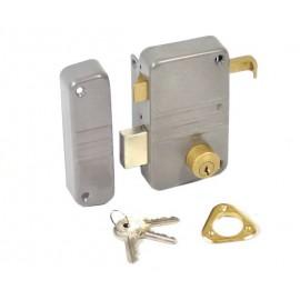 Serrure en applique à cylindre rond ECO vertical tirage gauche Vachette