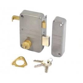 Serrure en applique à cylindre rond ECO vertical tirage droite Vachette