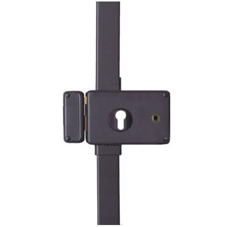 serrure 3 points pour cylindre europ en horga horizontale fouillot marron gauche. Black Bedroom Furniture Sets. Home Design Ideas