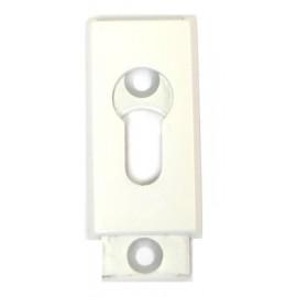 Cache Entree blanc 2 pieces 5.5 mm pour cylindre européen