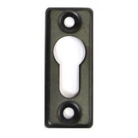 Cache Entree bronze 5 mm a visser pour cylindre européen