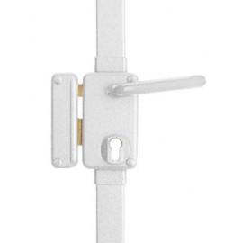 Serrure 3 points pour cylindre européen BELUGA verticale fouillot blanche gauche