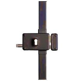 Serrure 3 points pour cylindre européen HORGA horizontale tirage droite marron
