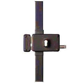 Serrure 3 points pour cylindre européen HORGA horizontale tirage gauche marron