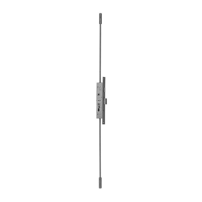 Serrure à larder 3 points pêne dormant demitour 40mm Métalux