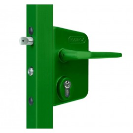 Serrure pour portail LOCINOX verte LAKQ U2V pêne 60 à 80 mm