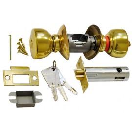 Serrure tubulaire Vachette V6500 Laiton axe 80 bouton/cle
