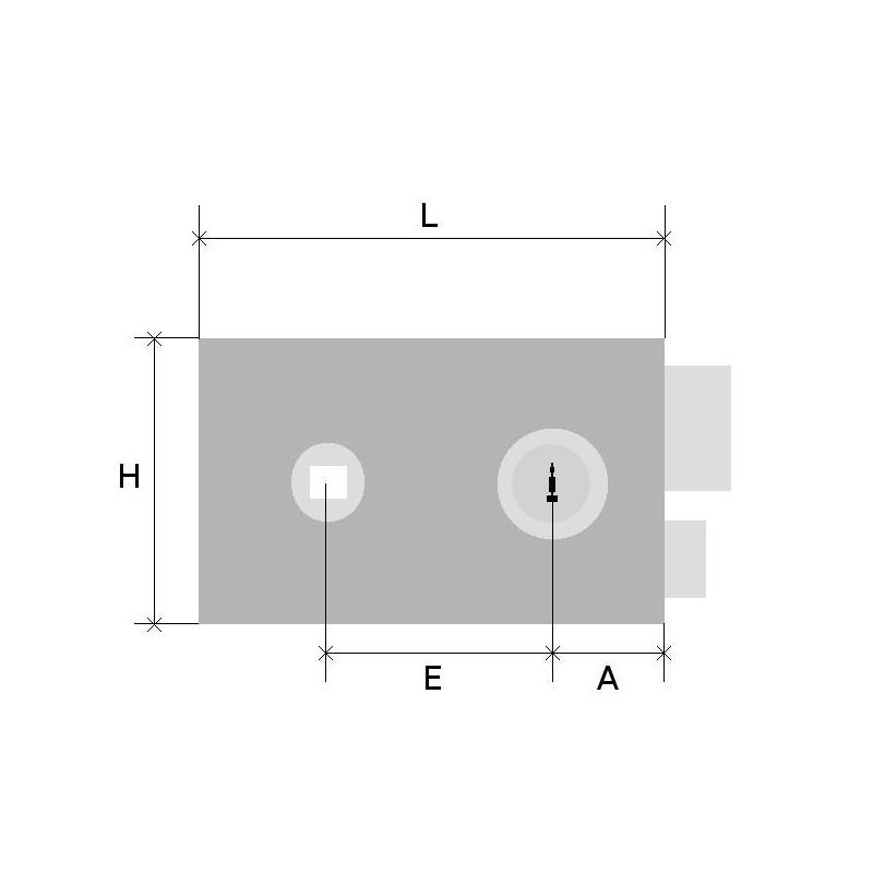 serrure en applique cylindre rond eco horizontal fouillot gauche vachette. Black Bedroom Furniture Sets. Home Design Ideas