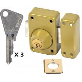 Verrou Vachette V136 à 2 entrées 60 mm