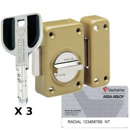 Verrou Vachette Radial NT à bouton 45 mm