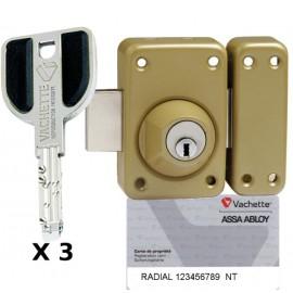 Verrou Vachette Radial NT à 2 entrées 45 mm