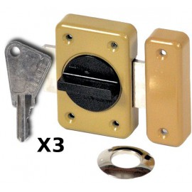 Verrou Vachette RXP à bouton et cylindre 40 mm