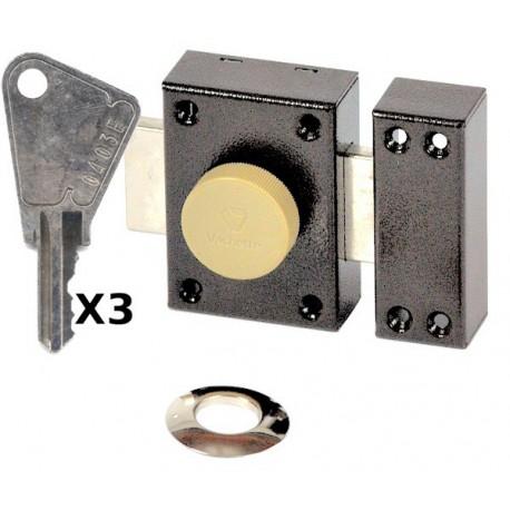 Verrou vachette Éclador bouton cyl.40
