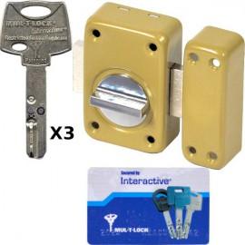 Verrou mul-t-lock Interactif à bouton 60 mm