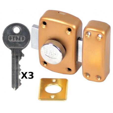 Verrou Ifam B5 à bouton et cylindre 50 mm