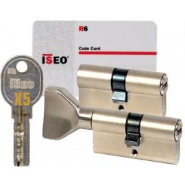 Cylindre Iseo R6 45x45 à 2 entrées nickelé