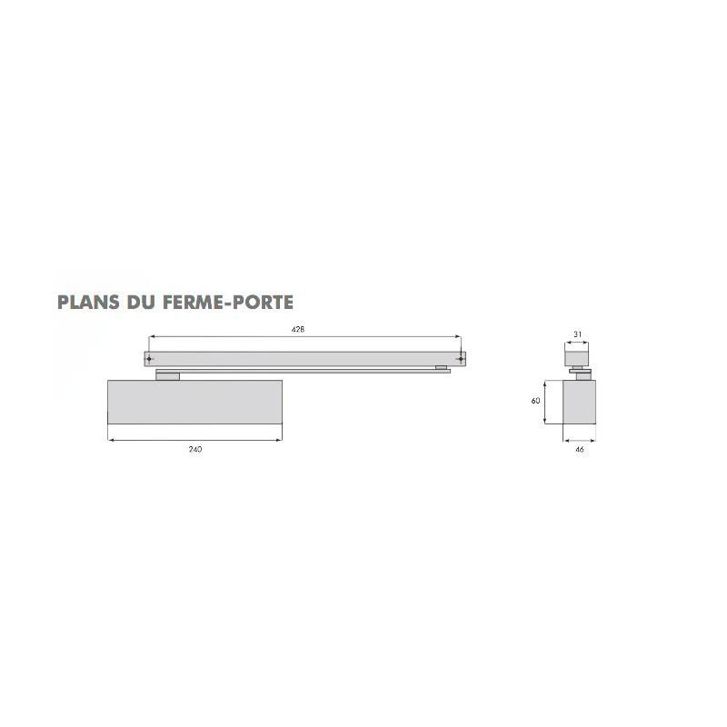 ferme porte anti vandalisme groom gr400 blanc 3. Black Bedroom Furniture Sets. Home Design Ideas