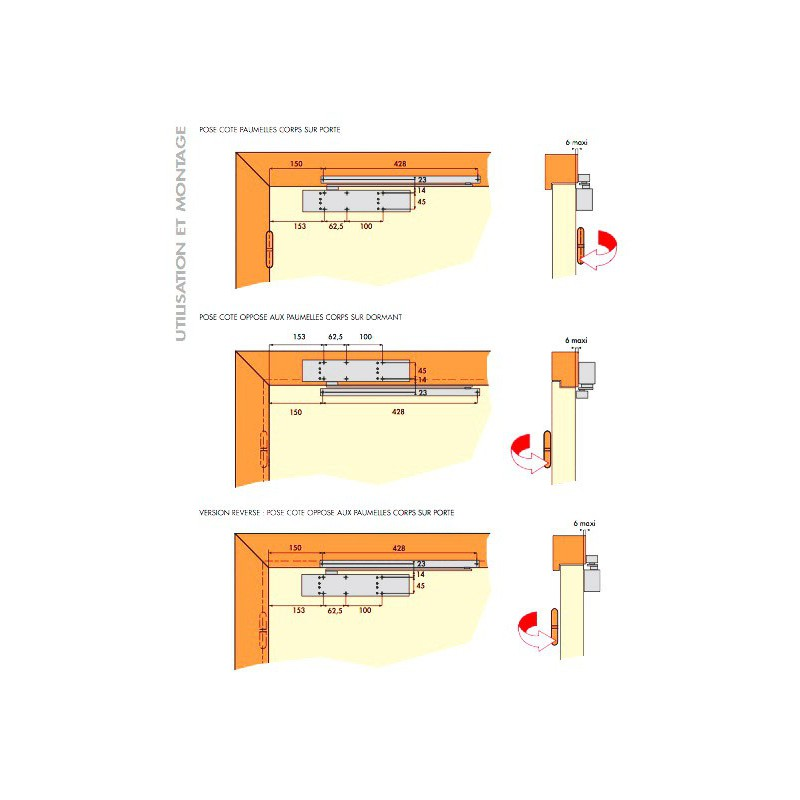 ferme porte anti vandalisme groom gr500 argent 3 5. Black Bedroom Furniture Sets. Home Design Ideas