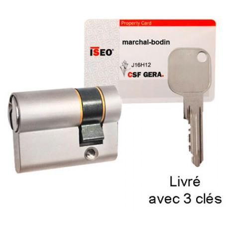 Demi Euro Cylindre 35//10 SERRURE DE PORTE BARILLET