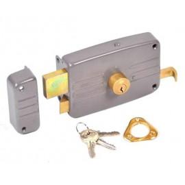 Serrure en applique à cylindre rond ECO horizontal tirage gauche Vachette