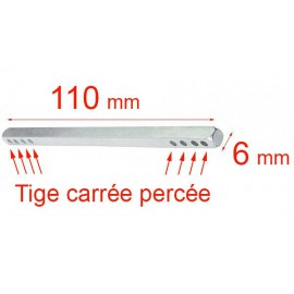 Tige carré 6x110 mm