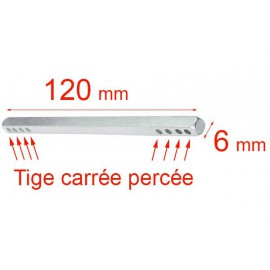 Tige carré 7x110 mm