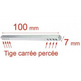Tige carré 7x100 mm
