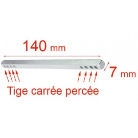 Tige carré 7x140 mm