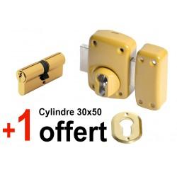 SUPER PROMO Verrou à profil européen avec 1 cylindre 30x50 offert