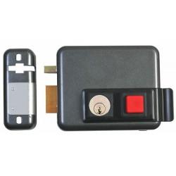 Serrure électrique à bouton et clé gauche ISEO