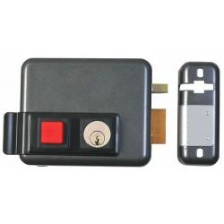 Serrure électrique à bouton et clé ISEO version droite