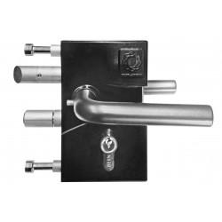 Serrure jacot des combes reglable de 40 a 60mm noir ral 9005