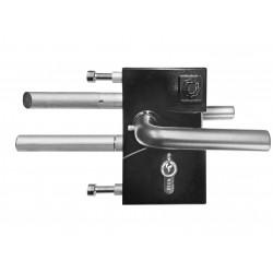 Serrure jacot des combes reglable de 100 a 120mm noir ral 9005