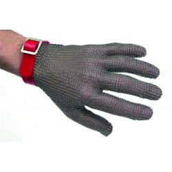 Gant de protection cotte maille anri coupure inox rouge Taille M