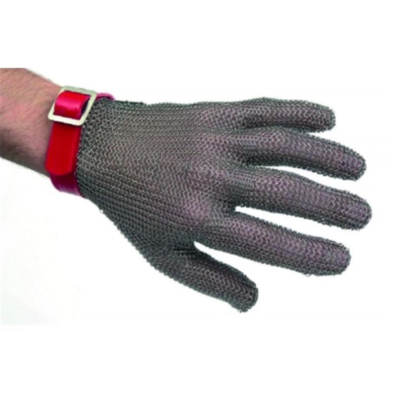 Gant de protection cotte maille anri coupure inox rouge taille m - Fabrication cotte de maille ...
