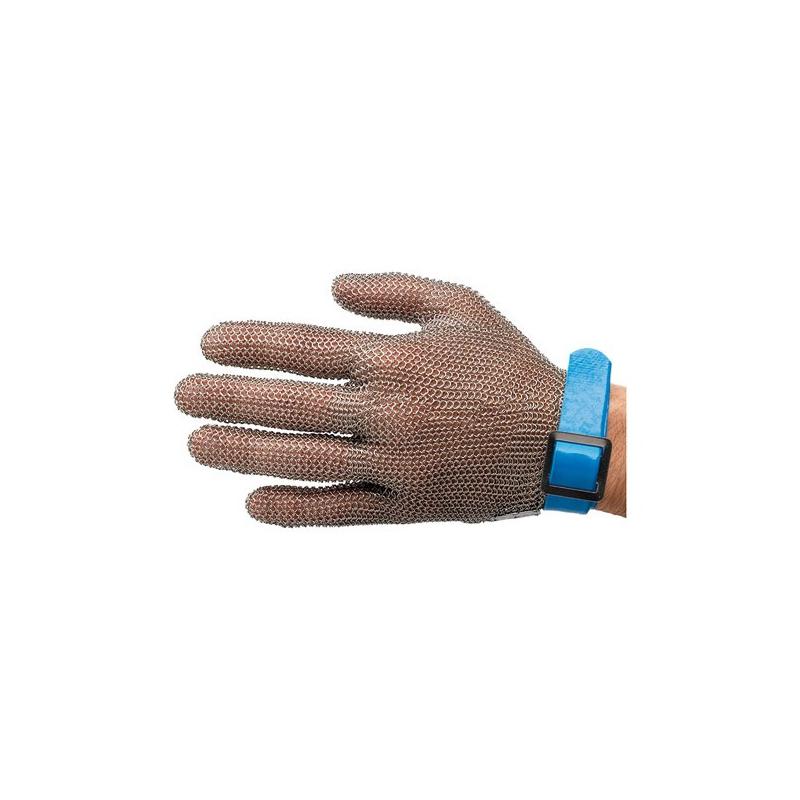 Gant de s curit cotte maille anti coupure inox bleu taille l - Gant de protection cuisine anti coupure ...