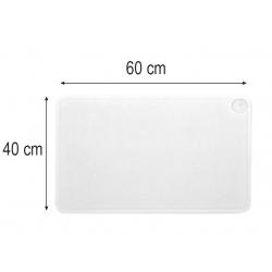 Planche à découper à rigole 60 x 40 x 2 cm blanche