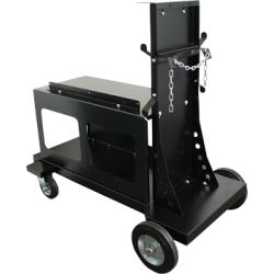 Chariot de transport noir 4 roues