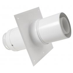 Plaque plafond C9 avec tuyau telescop.diamètre 80/125 mm