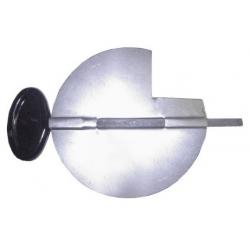 Clé de tirage émail noir 111 mm