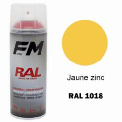 Bombe de peinture RAL 1018 Jaune zinc - 400ml