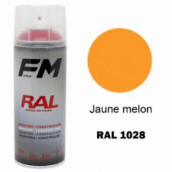 Bombe de peinture RAL 1028 Jaune melon - 400ml