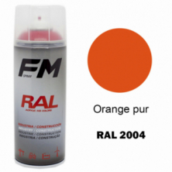 Bombe de peinture RAL 2004 Orange pur - 400ml