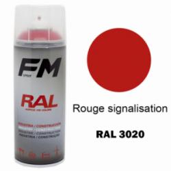 Bombe de peinture RAL 3020 Rouge signalisation - 400ml