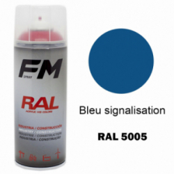 Bombe de peinture RAL 5005 Bleu signalisation - 400ml