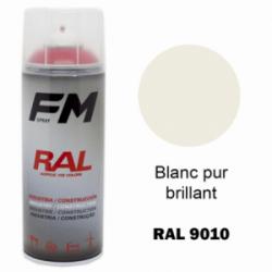 Bombe de peinture RAL 9010 Blanc brillant - 400ml