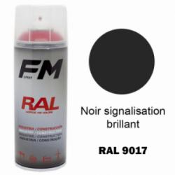Bombe de peinture RAL 9017 Noir brillant - 400ml