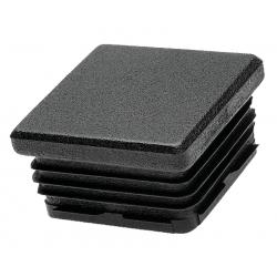 Embout carré plastique noir intérieur 60 mm
